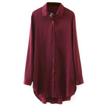 Plum Blossom Embroidered Sateen Shirt
