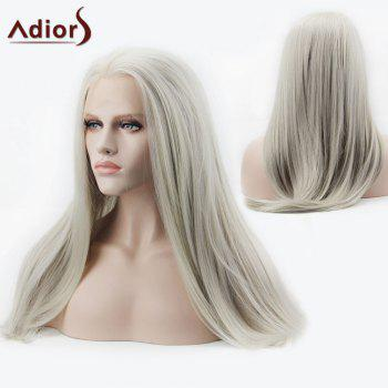 Adiors Side Parting Long Silky Straight Synthetic Lace Front Wig