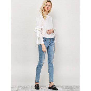 Flounced Oversized Flare Sleeve Blouse - S S