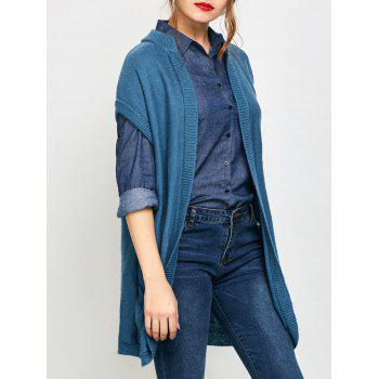 Blue Long Cardigan Cheap Casual Style Online Free Shipping at ...