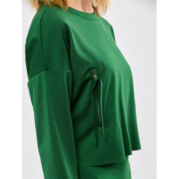Jupe crayon avec manches longues Tee - Vert ONE SIZE