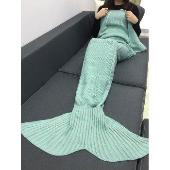 Comfortable Crochet Knitting Mermaid Tail Style Blanket - MINT GREEN