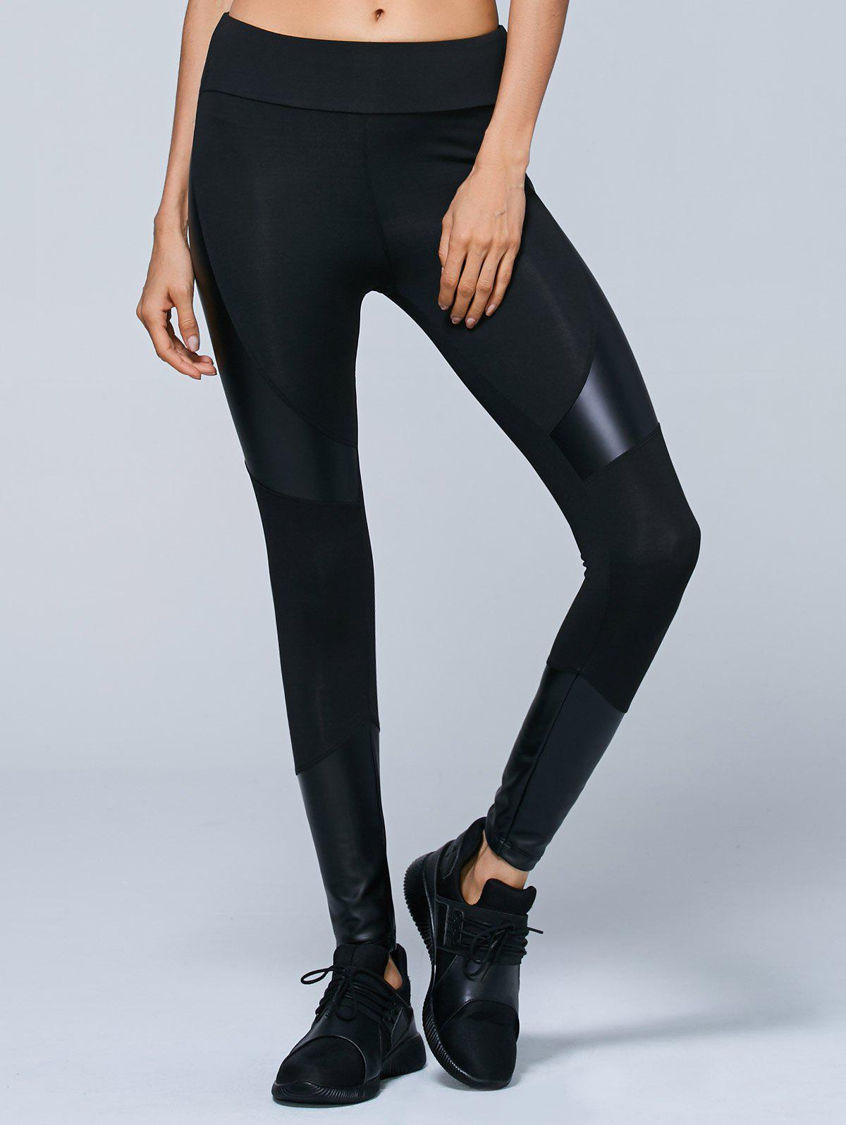An edgy pair of alice + olivia leggings are accented with soft leather panels for a hit of rock glamour. An exposed front zip finishes the silhouette with a sleek fit. An .