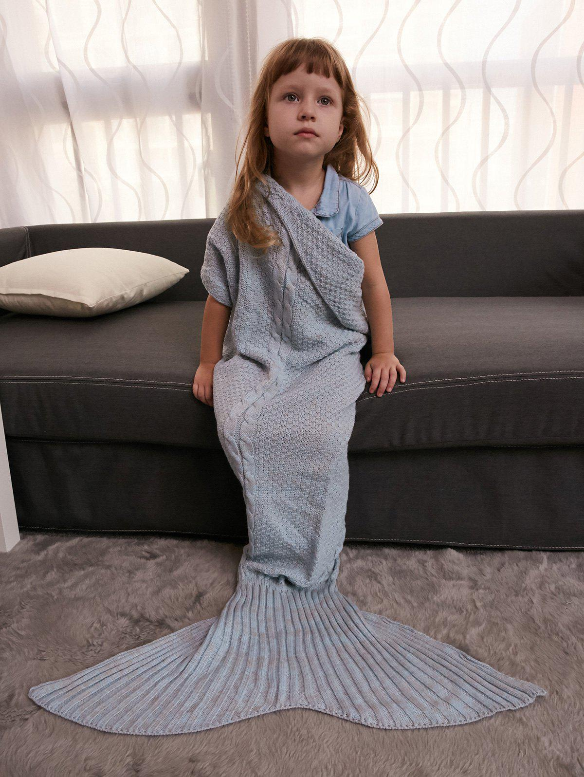 Comfortable Crochet Knitting Mermaid Tail Style Blanket For Kids lacy knitting comfortable checkered hollowed blanket for kids