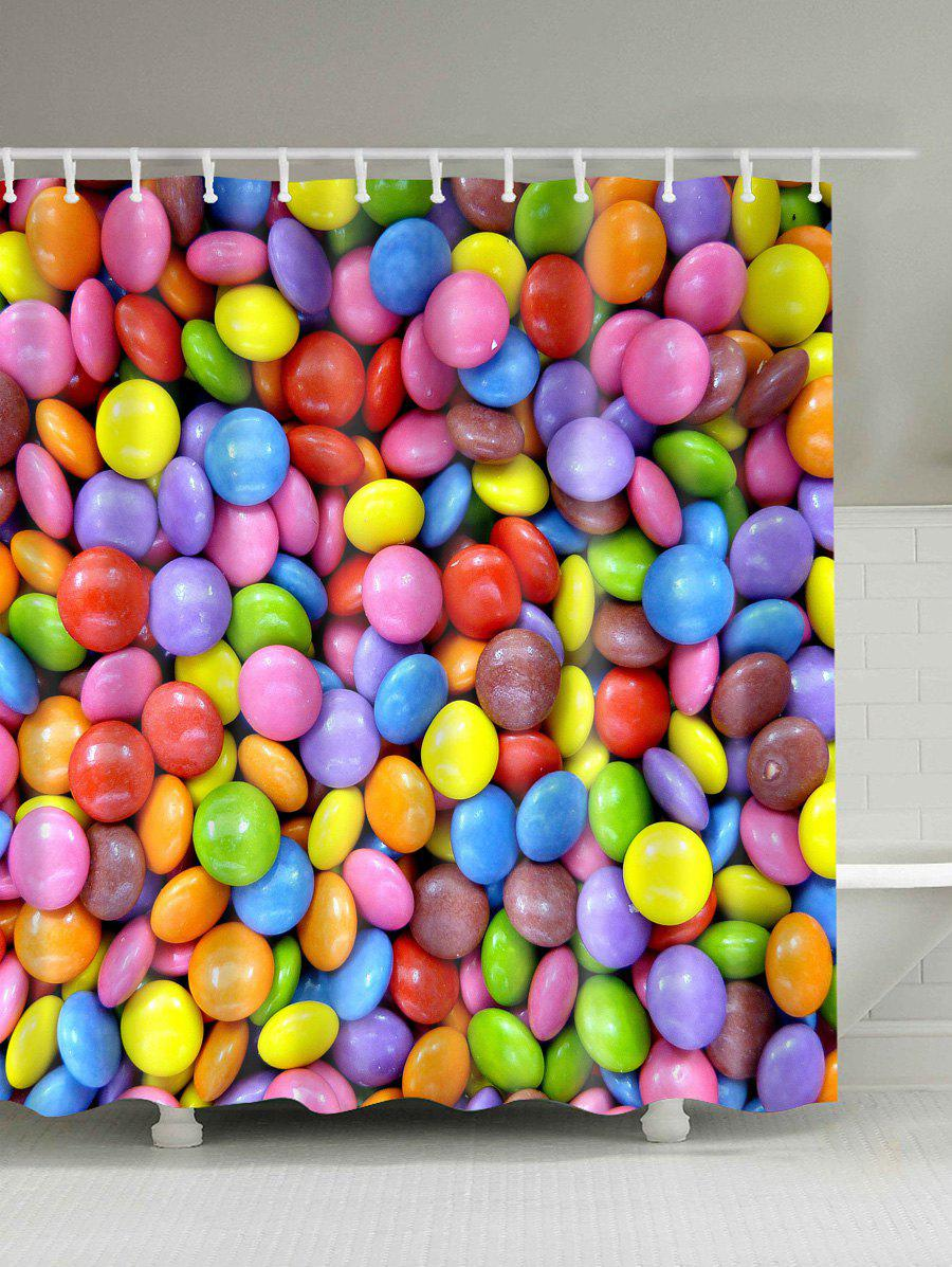 Candy Digital Print Shower Curtain - COLORFUL 150CM*180CM