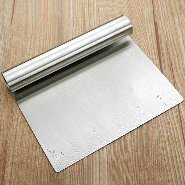 Inch Scale Stainless Steel Dough Scraper Baking Tool цена