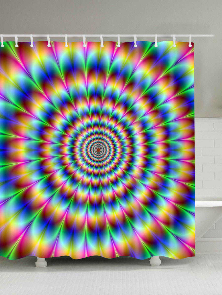 3D Vortex Digital Print Shower Curtain - COLORFUL 180CM*180CM