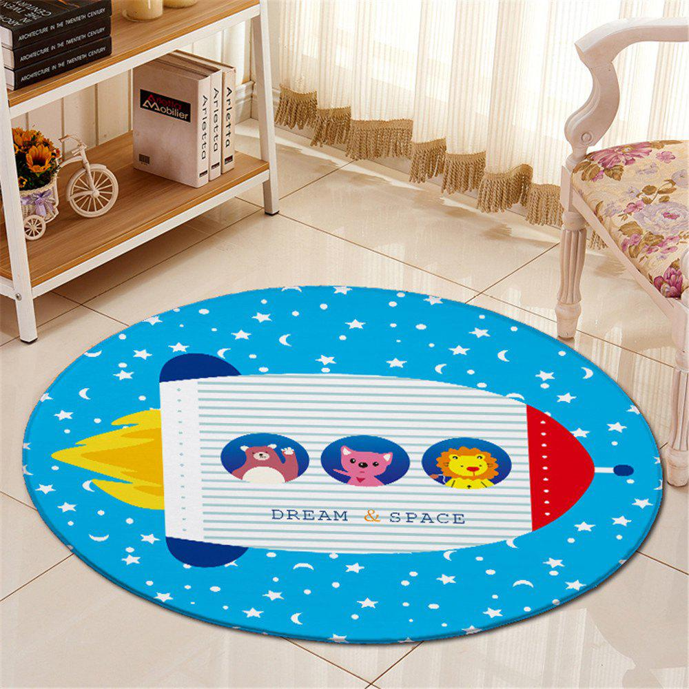 Round Cartoon Pattern Antislip Room Floor CarpetHome<br><br><br>Color: BLUE