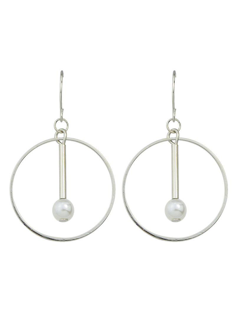 Artificial Pearl Circle Drop Earrings