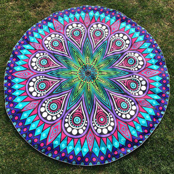 Crystal Flower Paisley Print Round Beach Throw 3d flower print square beach throw