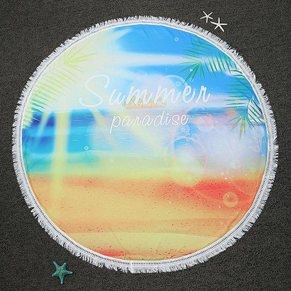 Summer Panadise Imprimer Bordée Plage ronde Throw - multicolorcolore ONE SIZE