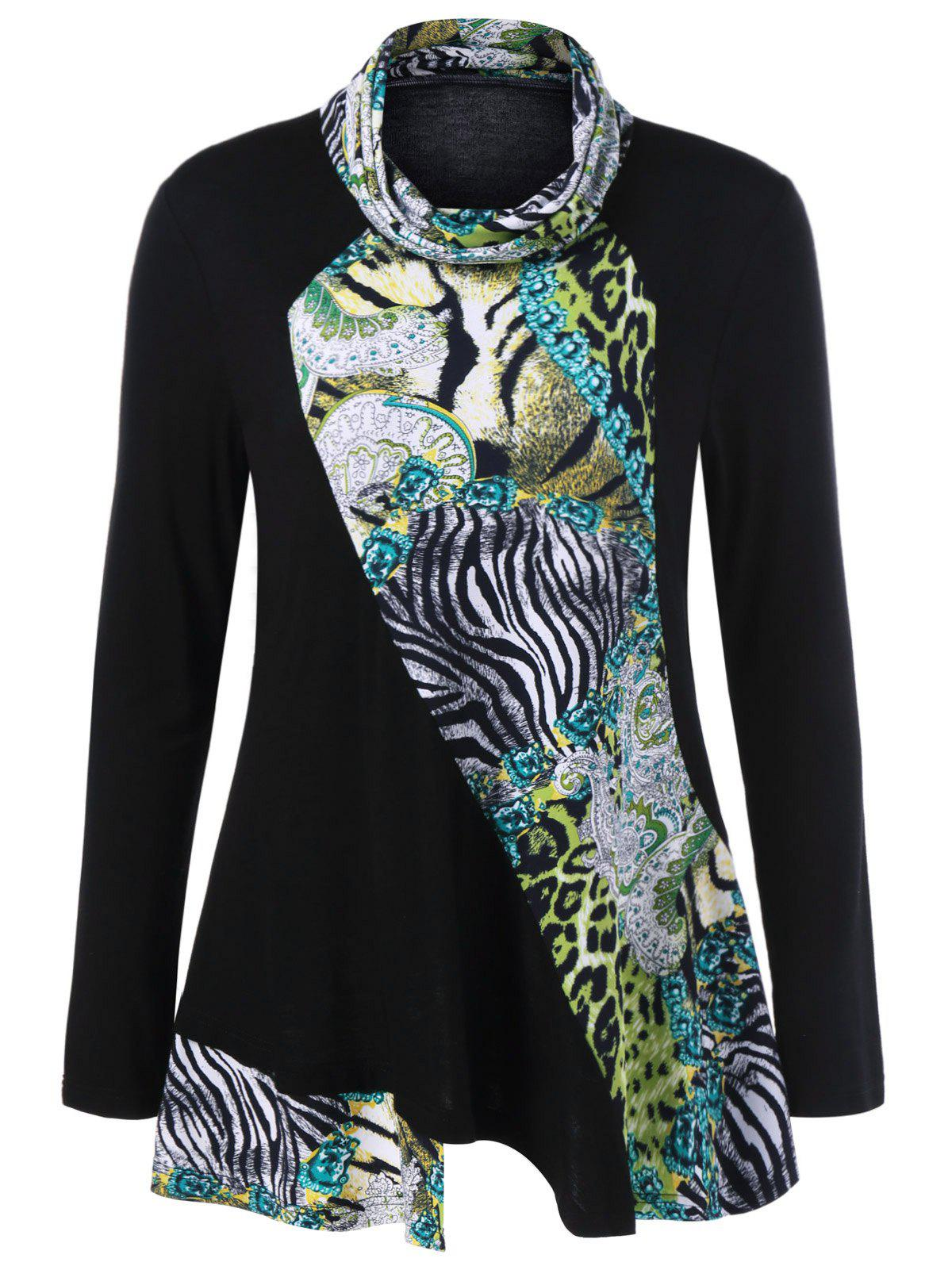Animal Print Tunic T-Shirt - COLORMIX XL