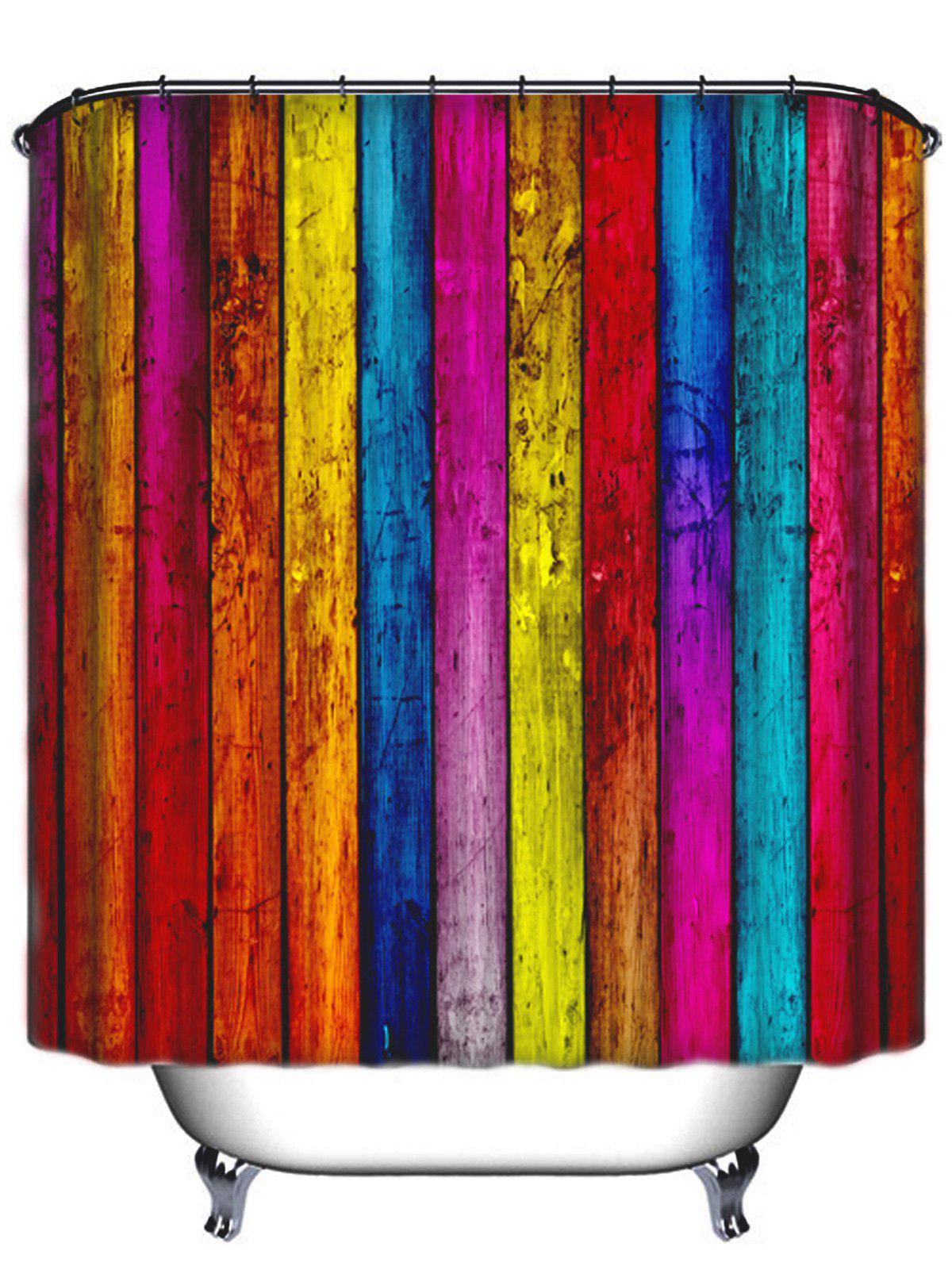 Thicken Colormix Stripe Waterproof Bath Shower Curtain - COLORMIX 180CM*180CM