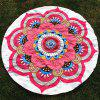 Big Handpainted Floral Print Round Beach Throw - WHITE ONE SIZE