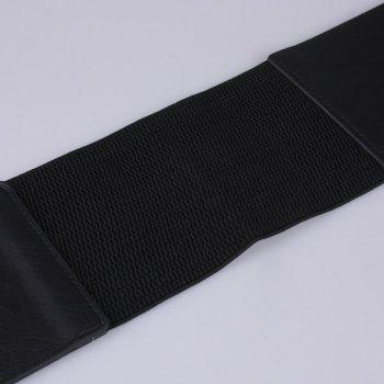 Hollow Out Triangle Wide Waist Belt -  BLACK