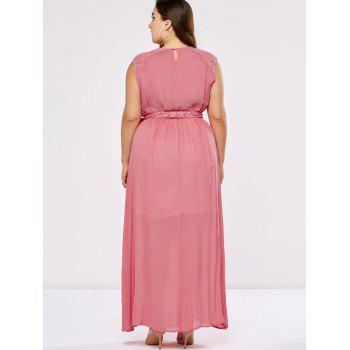 Plus Size Lace Insert Wedding Guest Dress - XL XL
