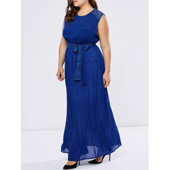 Plus Size Lace Insert Wedding Guest Dress