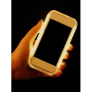 Selfie Luminous LED Flashlight Back Case For iPhone