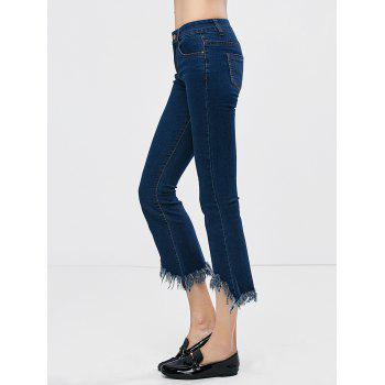 Low Waisted Frayed Hem Bootcut Jeans