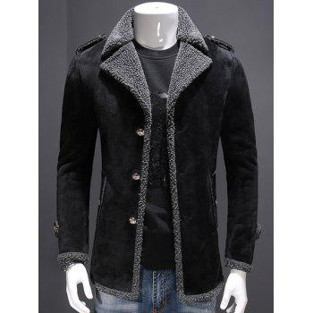 Fleece Lined Epaulet Design Jacket