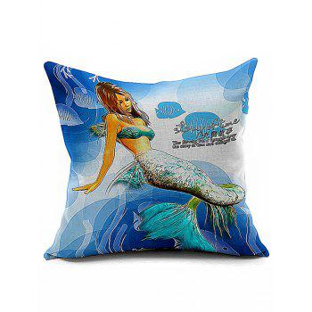 Sea Mermaid Throw Sofa Decorative Pillowcase