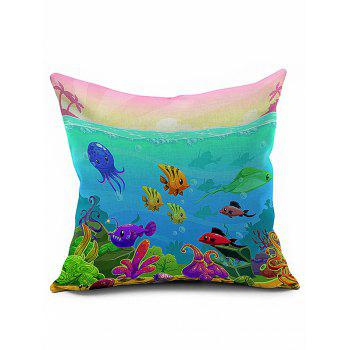 Ocean Animal Print Sofa Bed Throw Pillow Case