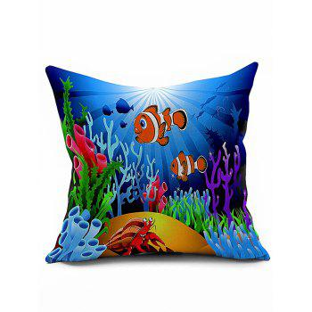 Sea Coral Fish Animal 45*45CM Throw Pillow Case