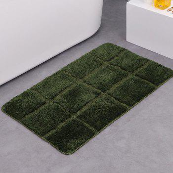 Gingham Plaid Water Absorbent Skidproof Rug - ARMY GREEN ARMY GREEN