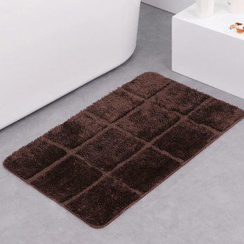 Gingham Plaid Water Absorbent Skidproof Rug - DARK COFFEE DARK COFFEE