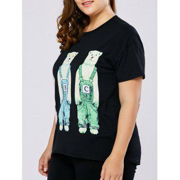Plus Size Cartoon Print Tee