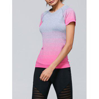 Ombre Raglan Sleeves Sporty T-Shirt