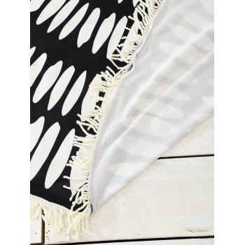 Bohemia Round Tassel Patterned Sarong Beach Throw - ONE SIZE ONE SIZE