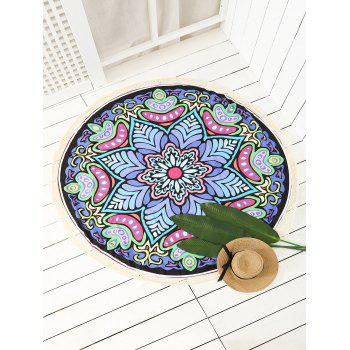 Tassels Printed Circle Beach Blanket - COLORMIX ONE SIZE