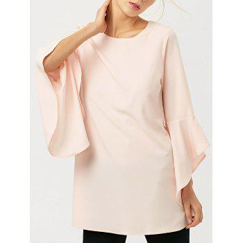 Flare Sleeve Long Blouse