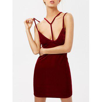 Strappy Velvet Tight Club Dress