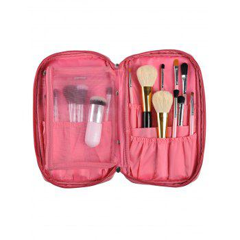 Zip Up Travel Makeup Storage Bag - PINK PINK