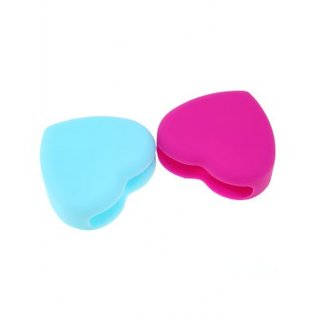 2 Pcs Heart Shape Cleaning Tool Brush Eggs -  COLORMIX