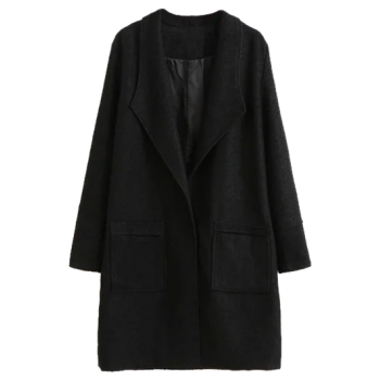 Pocket Design Drape Coat