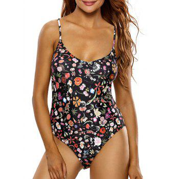 Tiny Floral Cutout Swimsuit