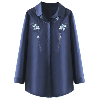 Orchid Embroidered Plus Size Shirt