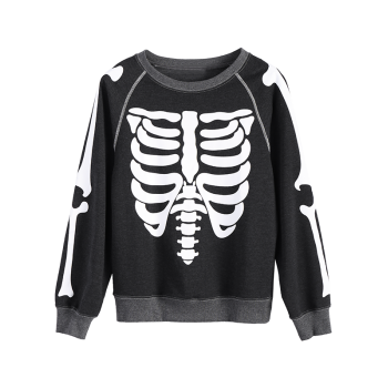 Skeleton Loose Sweatshirt