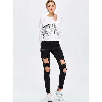 Destroyed Bodycon Jeans - S S