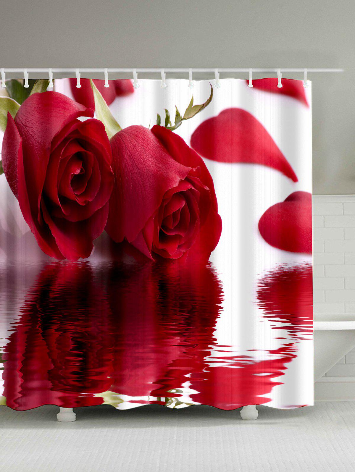 Roses Inverted Image Print Shower Curtain - ROSE