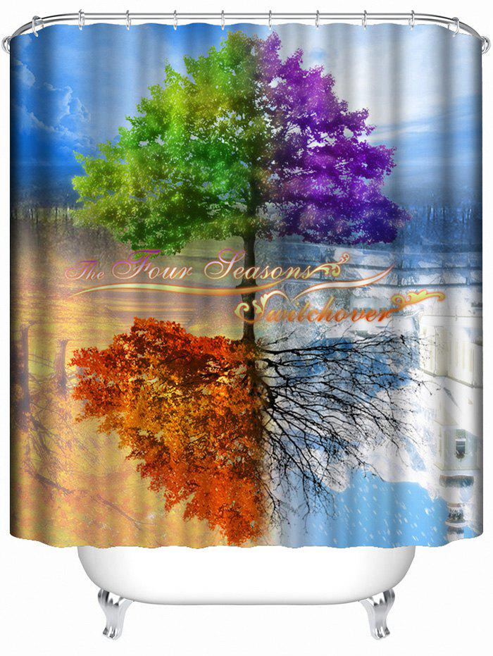 Life Tree Inverted Image Print Shower Curtain - COLORMIX
