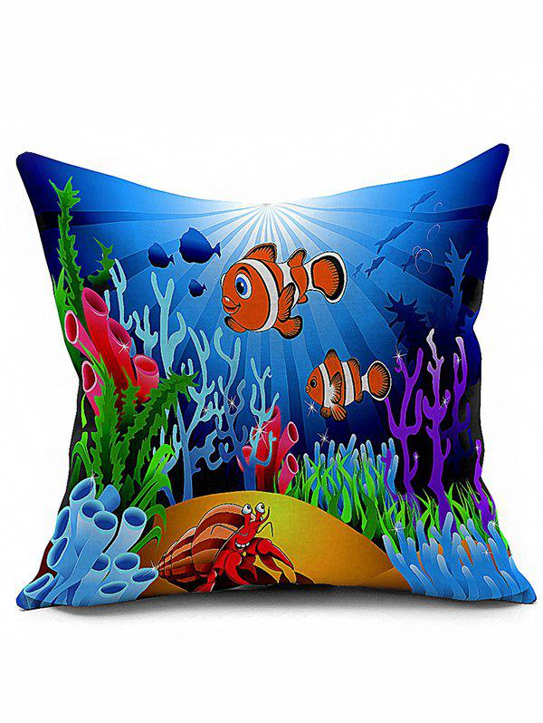 Sea Coral Fish Animal 45*45CM Throw Pillow Case - OCEAN BLUE