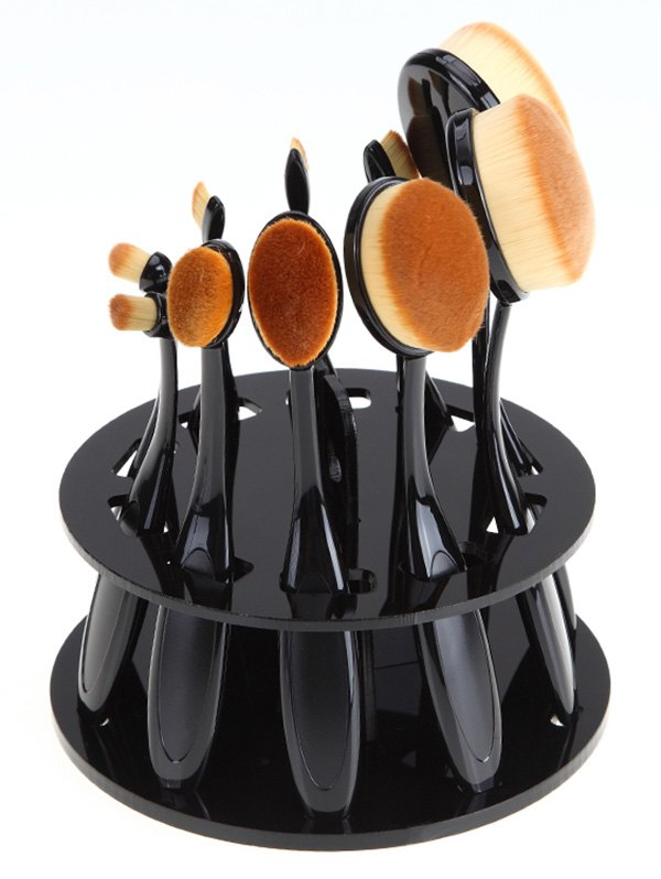 Brush Holder Makeup Toothbrush Stand - BLACK