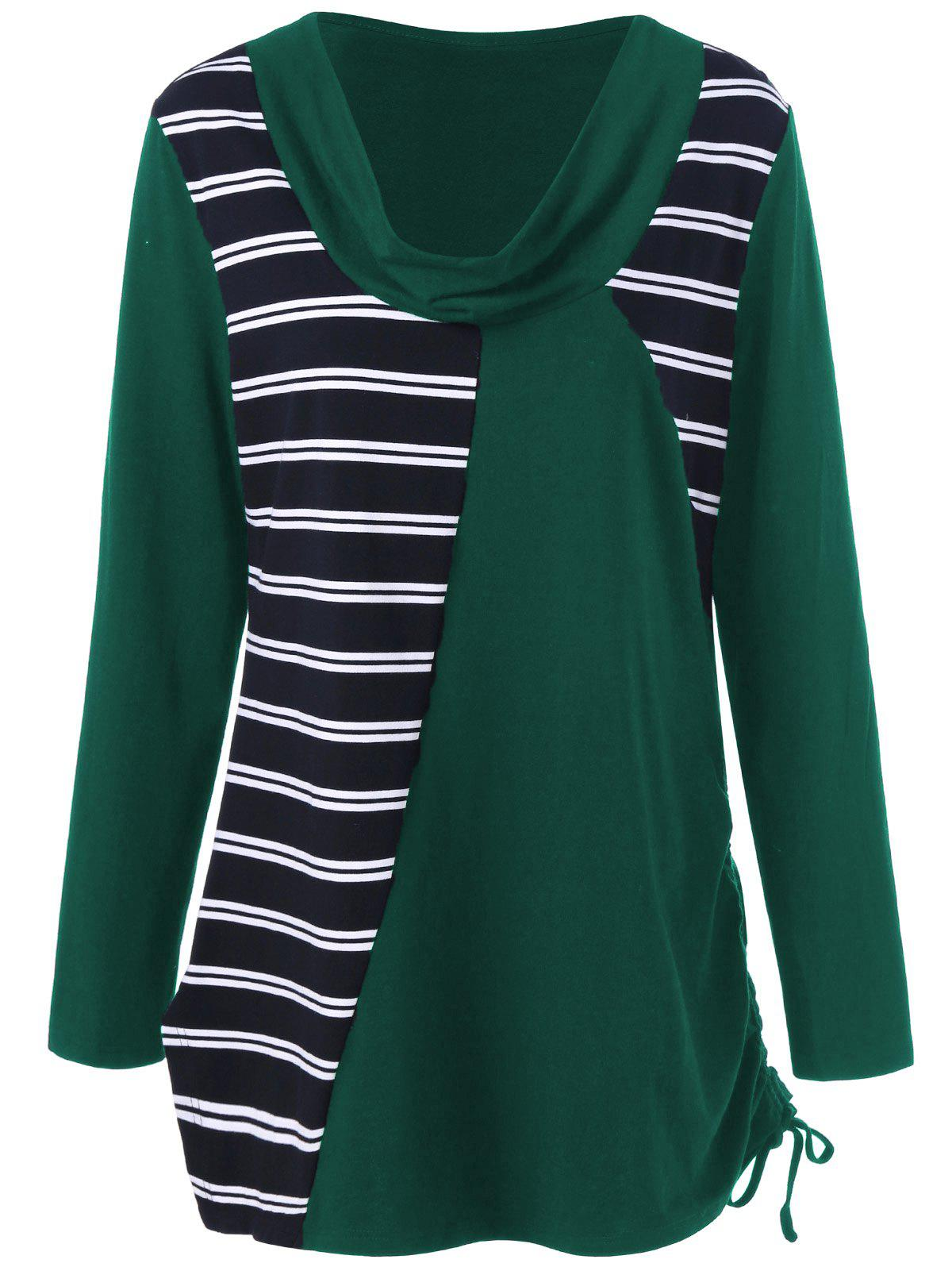 Plus Size Cowl Neck Striped Tunic T-Shirt inc new women s size small s beige black ombre ribbed cowl neck tunic $79 355