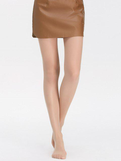 Jacquard See-Through Stretchy Pantyhose - SKIN COLOR ONE SIZE