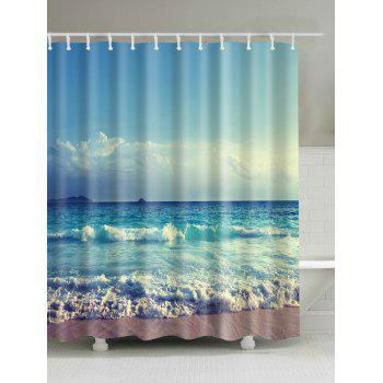 Ocean Print Waterproof Bath Shower Curtain