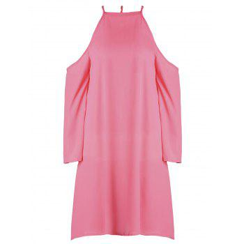 Sweet Red Round Collar A-Line Long Sleeve Dress For Women